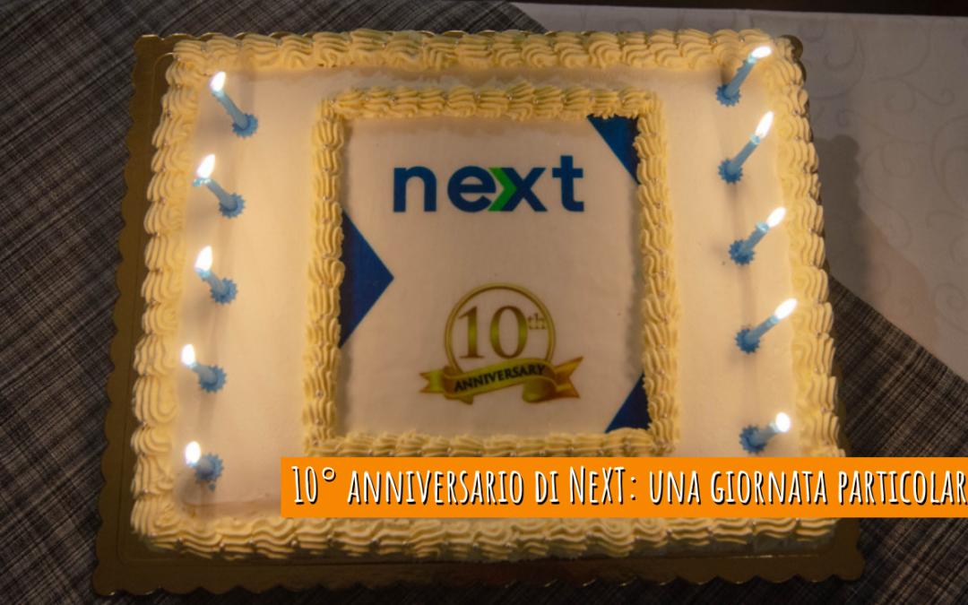 10° anniversario di NeXT: una giornata particolare